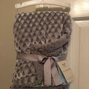 Grey reversible baby blanket